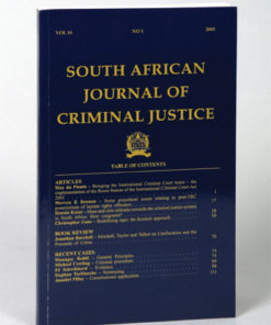 South African Journal of Criminal Justice