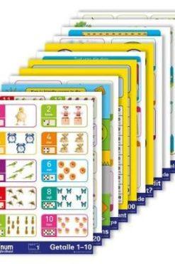 Platinum wiskunde Graad 1 tot 3 Graad 1 3 Plakkate stel van 12 (Afrikaans Poster)