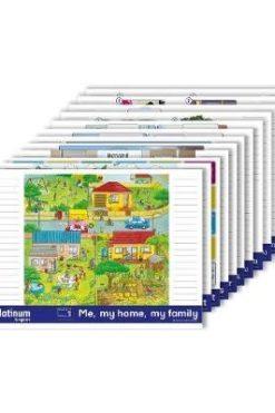 Platinum English Grades 1 to 3 Wallcharts pack of 12 (Wallchart)
