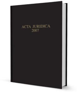 Acta Juridica 2007