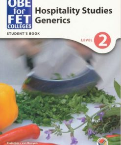 OBE for FET Colleges Hospitality Generics Level 2 Student's Book