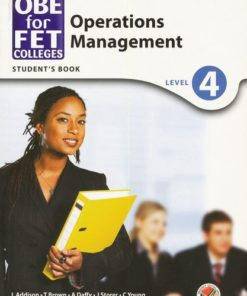 OBE for FET Colleges Operations Management Level 4 Student's Book