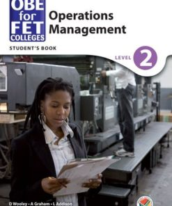 OBE for FET Colleges Operations Management Level 2 Student's Book