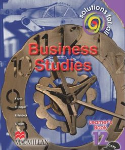 SOLUTIONS FOR ALL BUSINESS STUDIES GRADE 12 LB