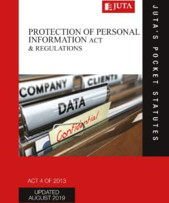 Protection of Personal Information Act 4 of 2013 3e (Print)