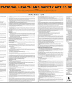Occupational Health & Safety Act 85 of 1993 2e (Poster)