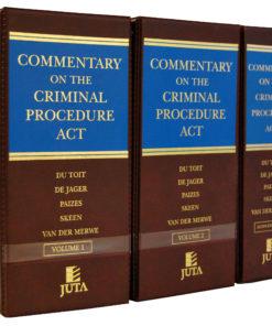 Commentary on the Criminal Procedure Act (Du Toit)