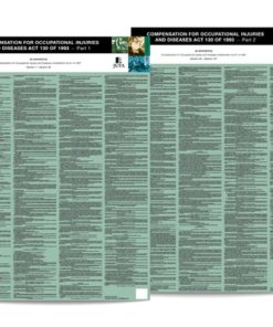 Compensation for Occupational Injuries and Diseases Act 130 of 1993 (COIDA) Poster Set