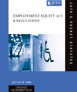 Employment Equity Act 55 of 1998 & Regulations 5e