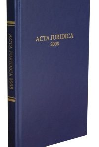 Acta Juridica 2009