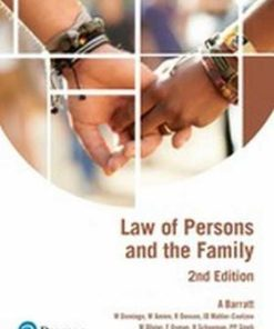 Law of Persons & the Family (2nd edition)