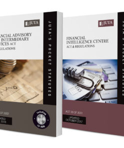 Financial Intelligence Centre Act 38 of 2001 & Regulations AND Financial Advisory and Intermediary Services Act 37 of 2002 & Regulations (2-volume set)
