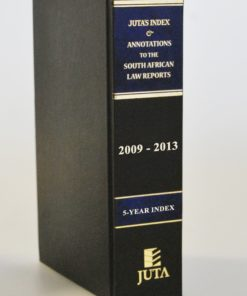 Index and Annotations to the South African Law Reports