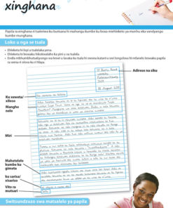 CHART: HOW TO WRITE A PERSONAL LETTER (XITSONGA) A2 (FLAT)
