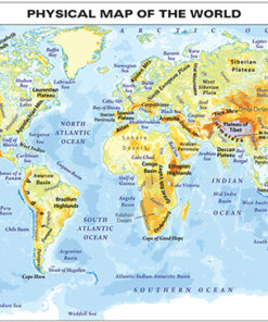 CHART: PHYSICAL MAP OF THE WORLD A1